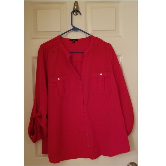 5cddacf435a883 Notations Tops | Plus Size Button Down Blouse | Poshmark